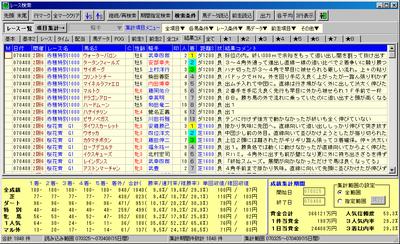 レース検索のコメント表示(コメント入力隊)