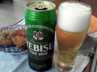 昼間のビールは旨いね